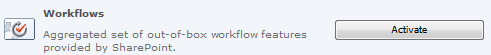 Workflows Feature