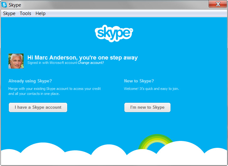 Already have a Skype account?