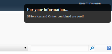 Proof of concept Gritter Sharepoint