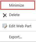 Minimize Web Part