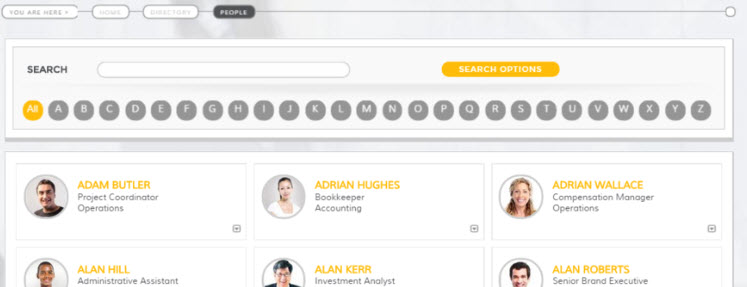 Bonzai Intranet Employee Directory Example
