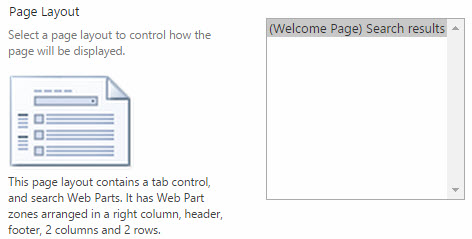 Choose Page Layout