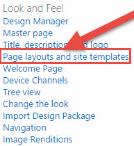 Page layouts and site templates