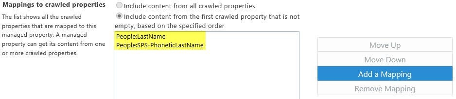 Lastname Mapped Properties